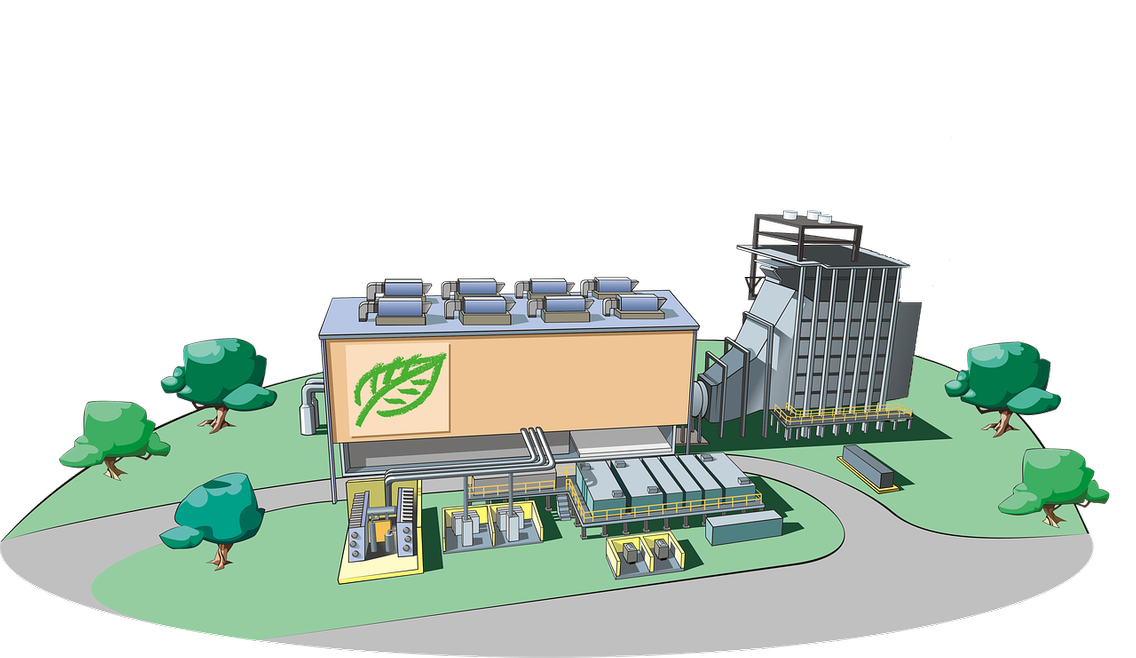 Beispielansicht der geplanten Pyrolyse-Anlage