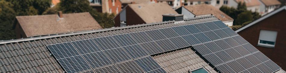 Solaranlage auf Häuserdach