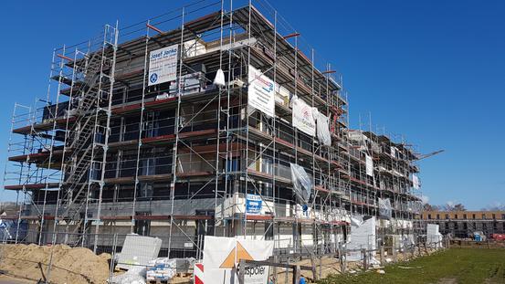 Rohbau Staffelgeschoss im April 2021