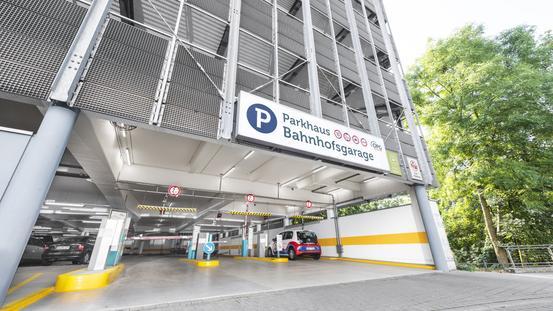 Einfahrt Garage am Hauptbahnhof Osnabrück