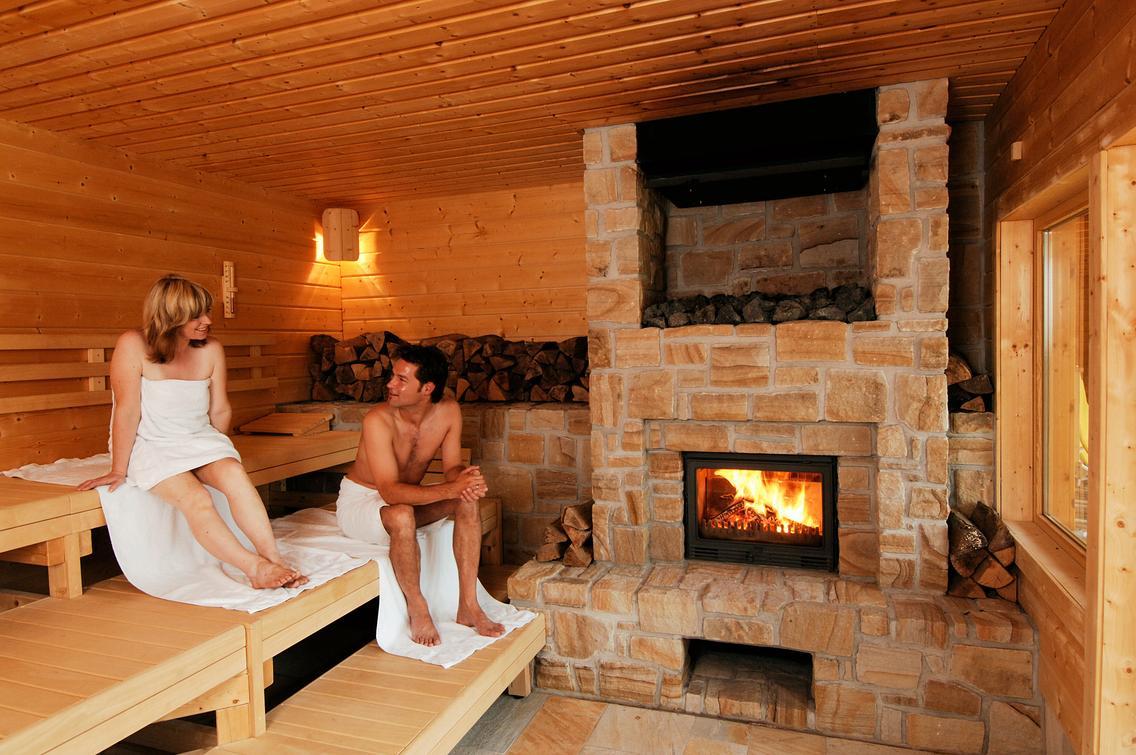 Saunakabine Takka in der Loma-Sauna
