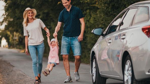 Carsharing Angebot des statteilautos für Familien