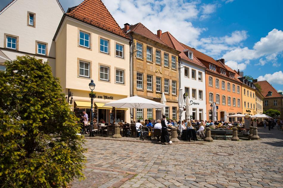 Cafe Am Markt in der Innenstadt von Osnabrück