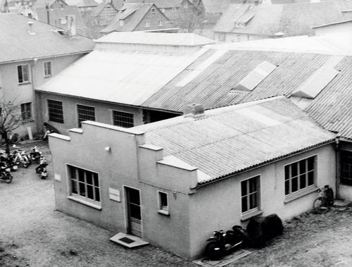 Erste Werkshalle in Allendorf