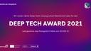 Deep Tech Award 2021 - Bewerbungsstart für Berliner Unternehmen