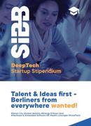 SIBB Deep Tech Startup Stipendium Flyerbild