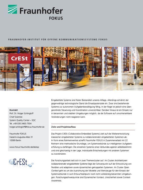Projektblatt CrESt