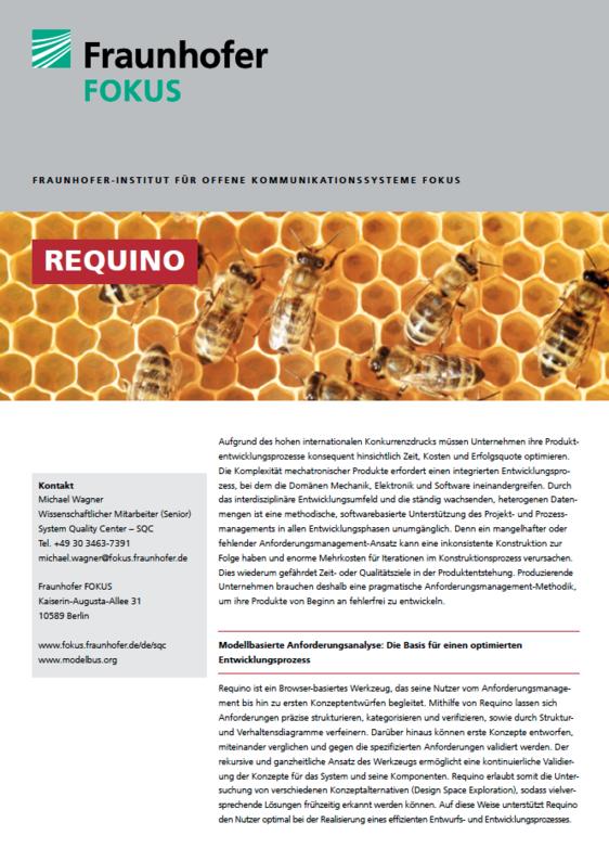 Screenshot Projektblatt Requino