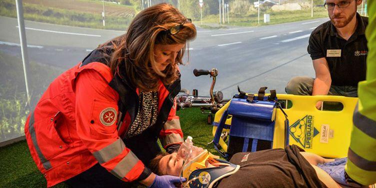 Training in der Simualtionsarena der Universität Duisburg-Essen