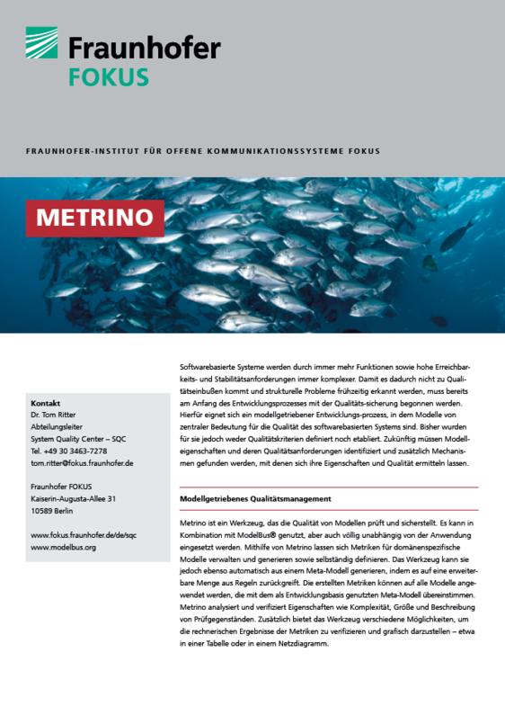 Screenshot Projektblatt Metrino