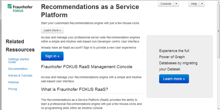Recommendation as a Service