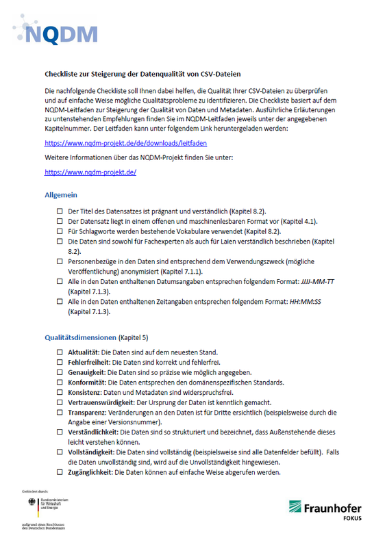 NQDM Checkliste CSV Titelbild