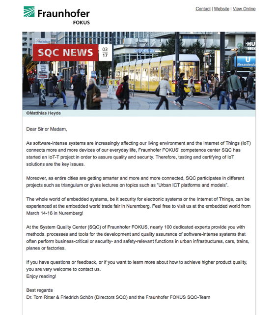 fraunhofer fokus sqc newsletter