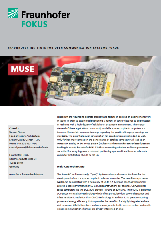 Screenshot Project information MUSE