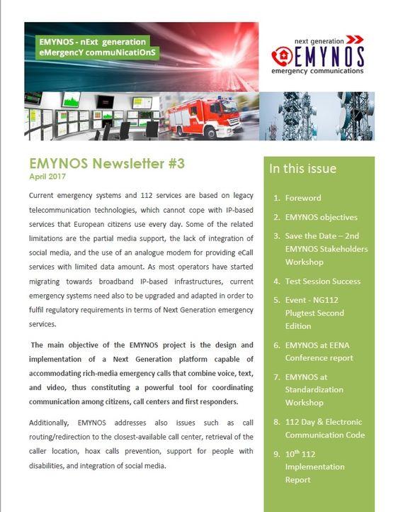 EMYNOS Newsletter 3