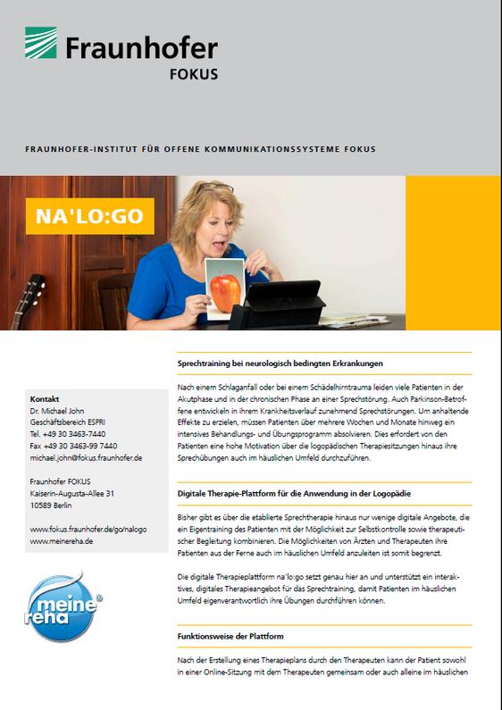 ehealth, Produktblatt, NaLogo, Titel