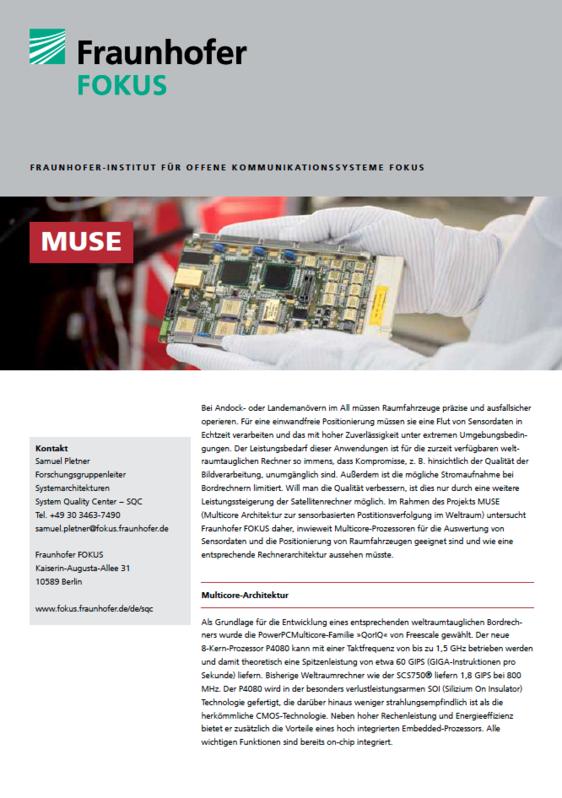 Screenshot Projektblatt MUSE