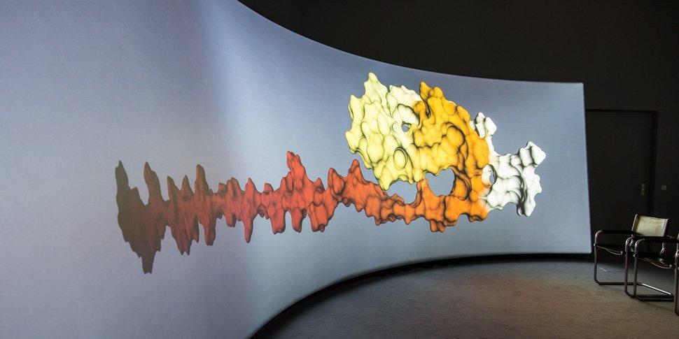 Visualisierung einer Molekülfaltung