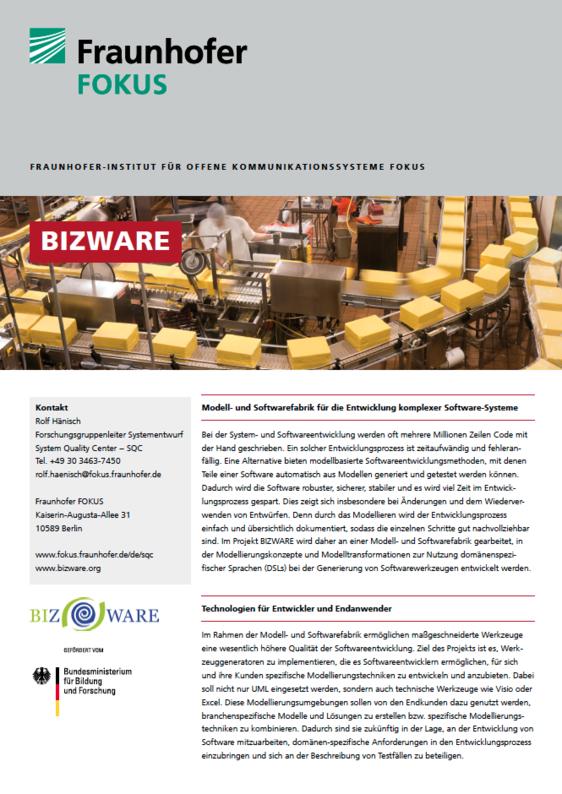 Screenshot Projektblatt BIZWARE
