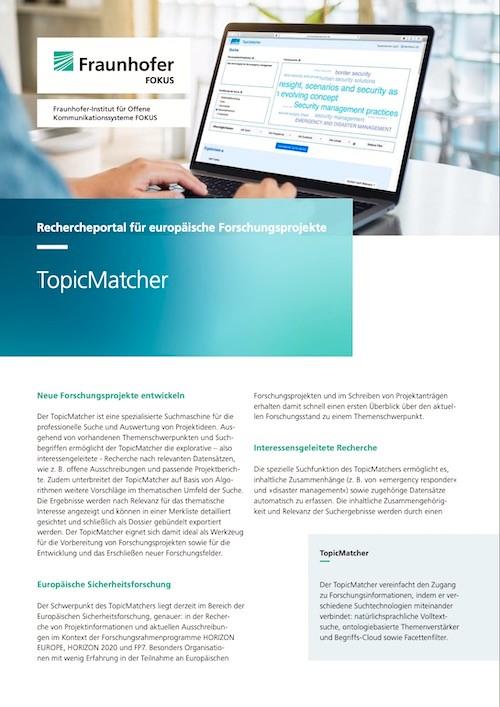 Broschüre TopicMatcher