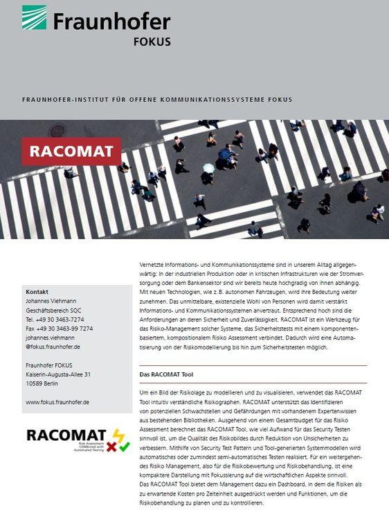 Projektblatt RACOMAT