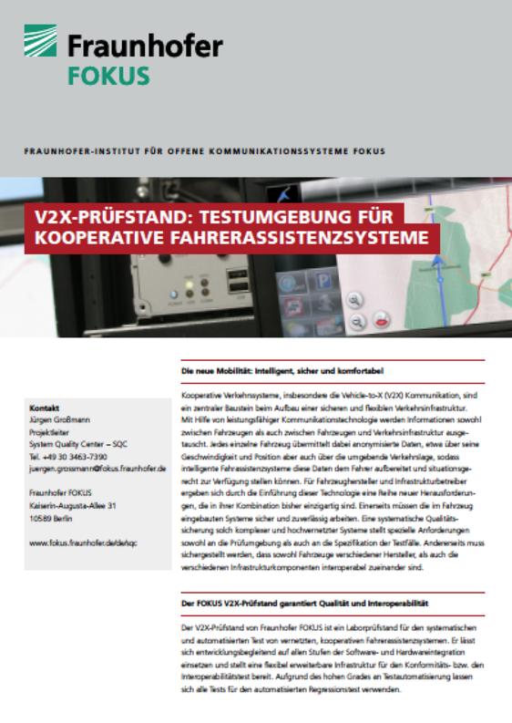 Screenshot V2X Projektblatt