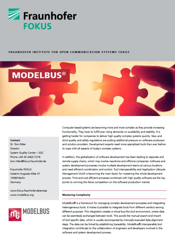 Screenshot Project information ModelBus