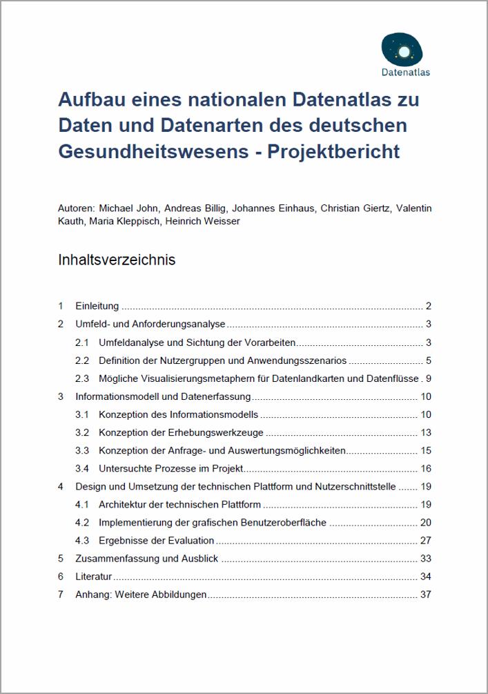 Titelbild Datenaltas Projektbericht