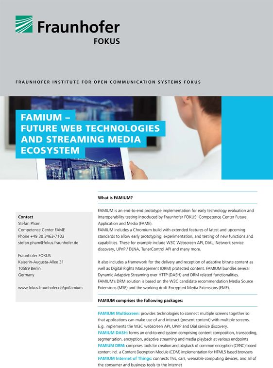fraunhofer fokus fame future web technologies flyer cover