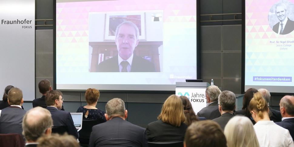 Sir Nigel Shadbolt 30 Jahre FOKUS Konferenz