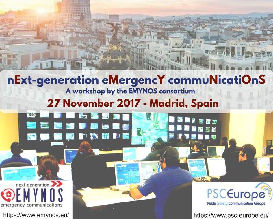 emynos, next generation emergency communications, workshop, madrid