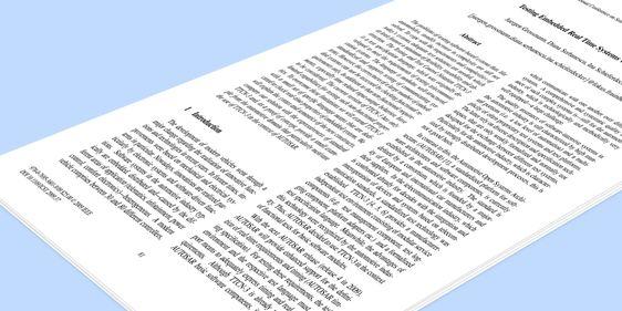 Das Deckblatt des ausgezeichneten Papers