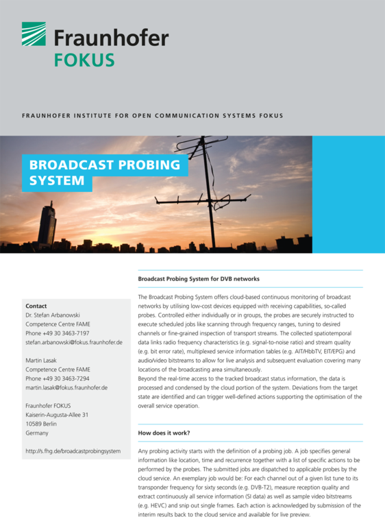fame broadcast probing system flyer cover 2016