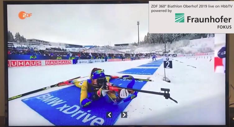 fame, 360° video, zdf biathlon 2019, standbild