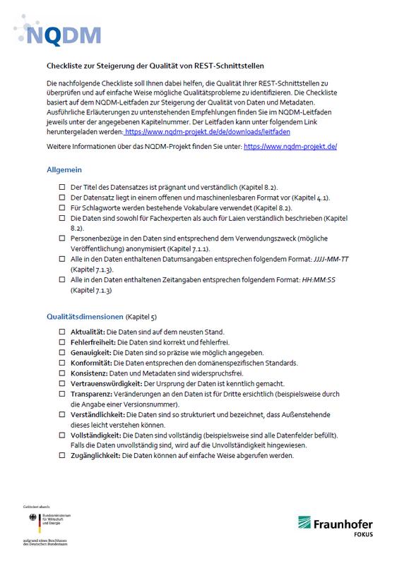 NQDM Checkliste REST Titelbild
