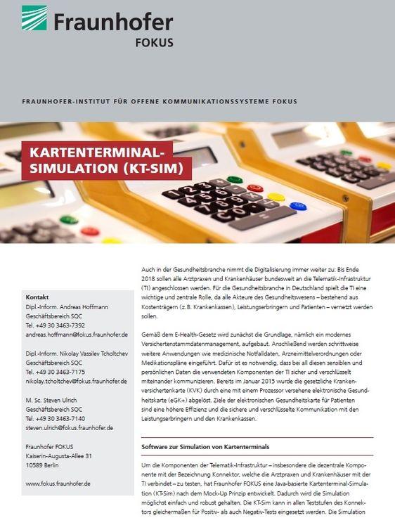 Projektblatt KT-Sim