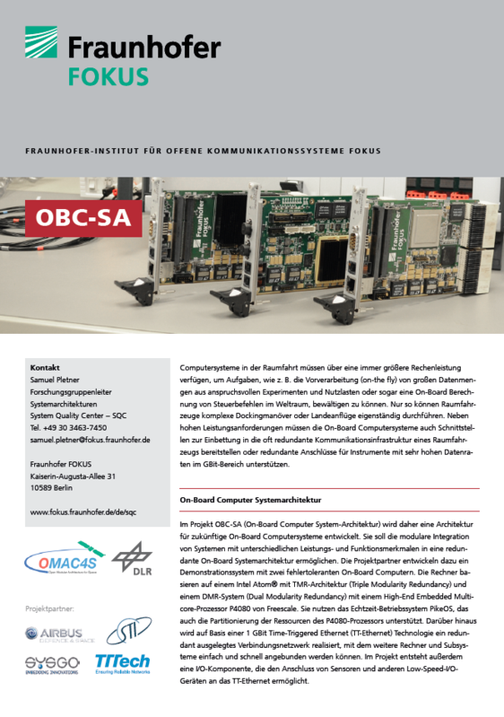 Screenshot Projektblatt OBC-SA