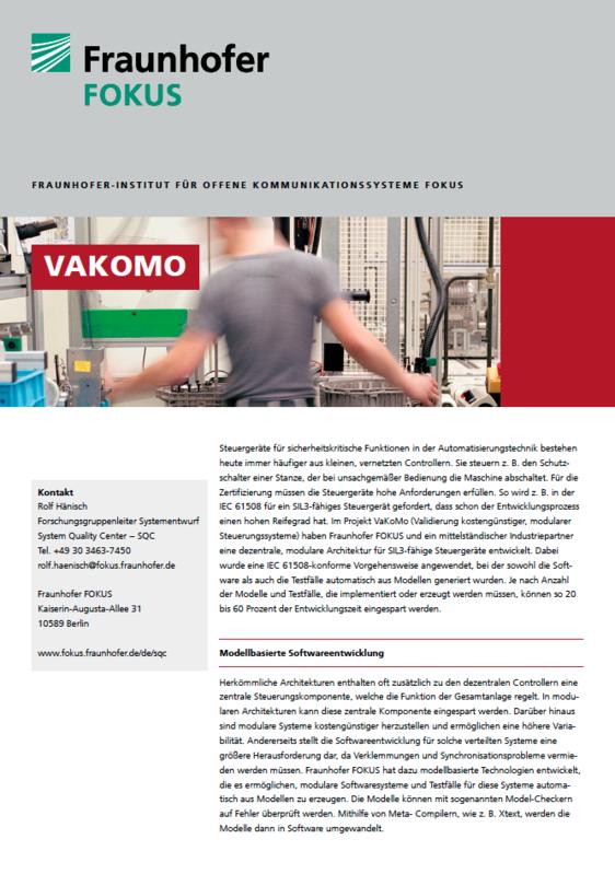 Screenshot Projektblatt VAKOMO