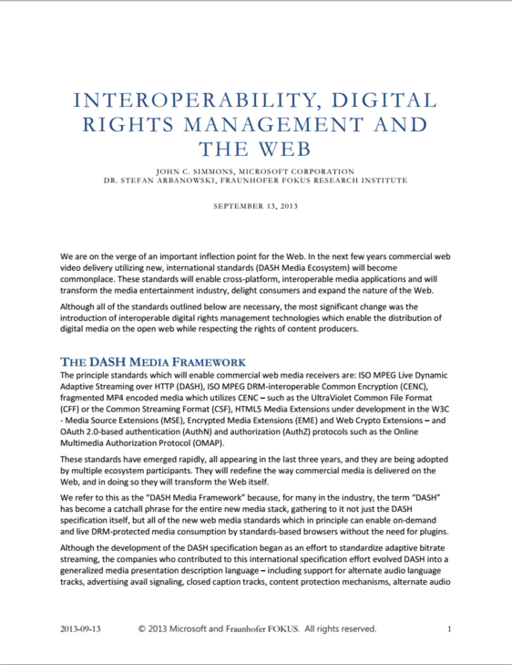 Interoperability Digital Rights Management And The Web