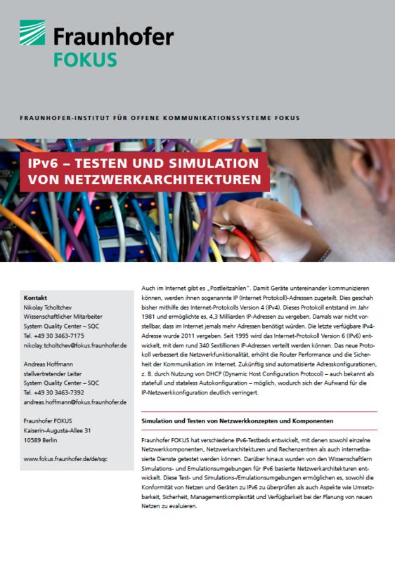Screenshot Projektblatt IPv6