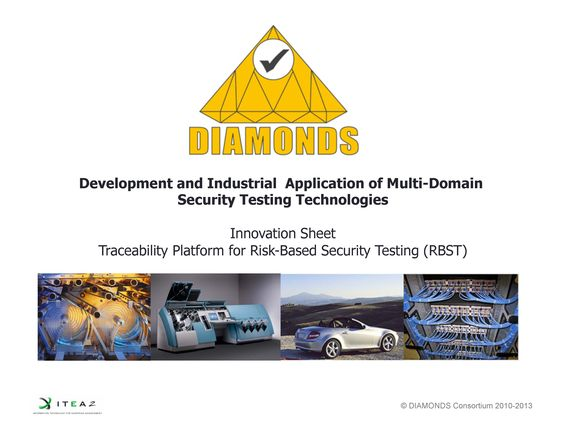 SQC, Single Site, Itea2 Diamonds, Innovations