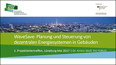 Präsentation von Dr. Armin Wolf mit Prof. Dr. Christoph Nytsch-Geusen, 2. Projektleitertreffen 'ENERGIEWENDEBAUEN