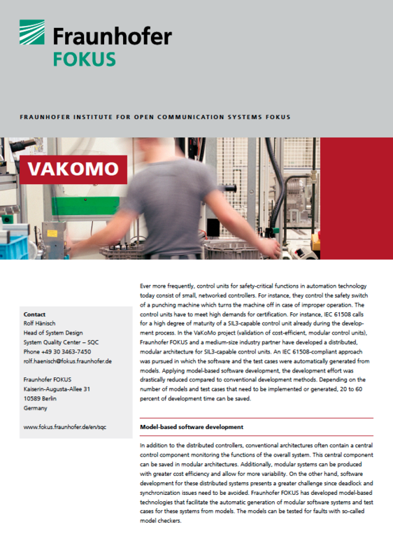 Screenshot Project information VAKOMO
