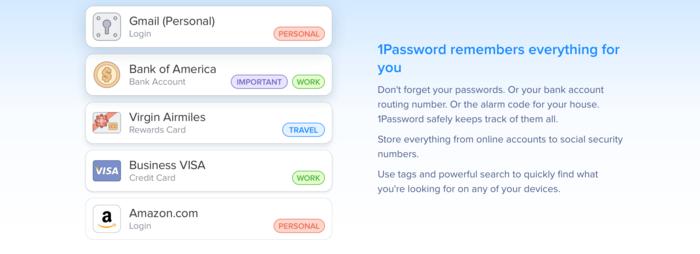 Screenshot 1Password