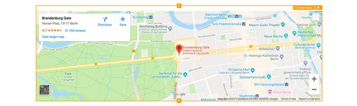 i google maps widget screenshot