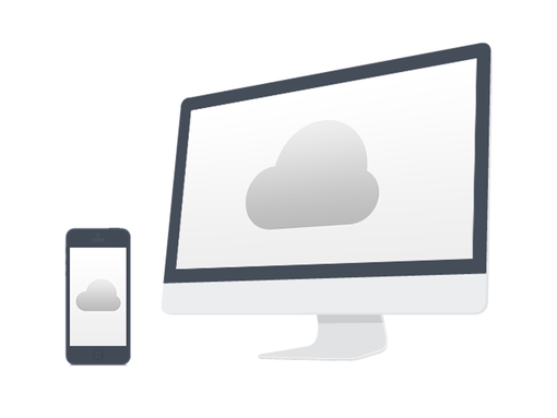 cloud laptop template