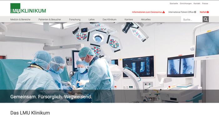 lmu klinikum screenshot