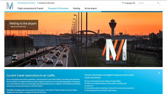 munich airport screenshot