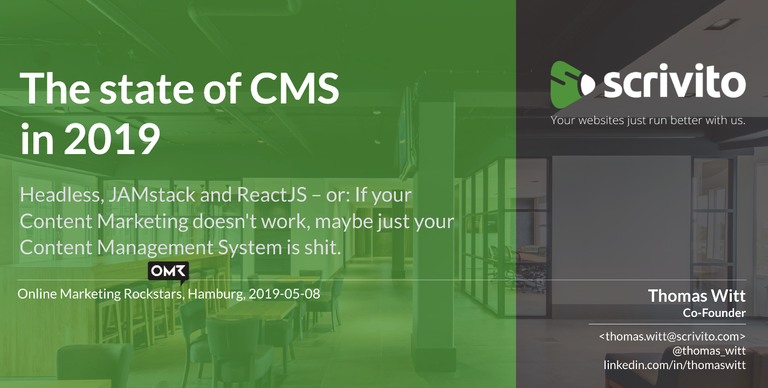 CMS-Lösungen in 2019: Headless, JAMstack und ReactJS