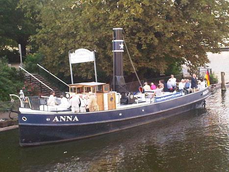 """Fahrt mit dem Oldtimerschiff """"Anna"""""""